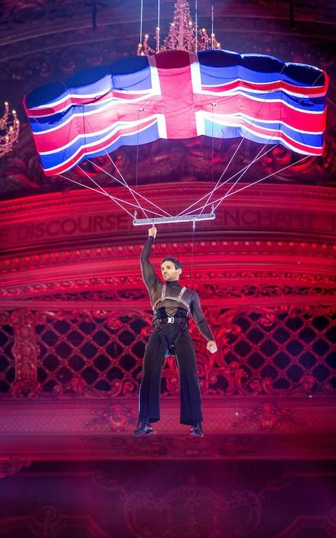 Davood's entrance for his Bond paso doble