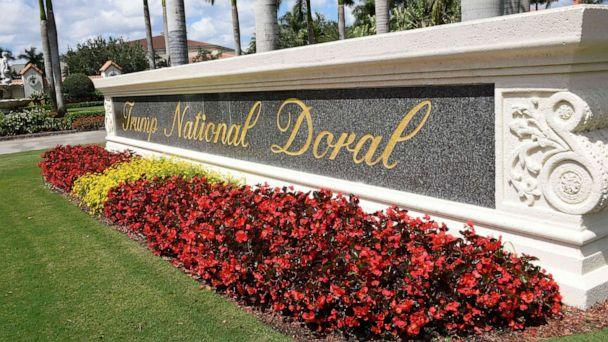 PHOTO: In this April 3, 2018, file photo, a view leading into Trump National Doral is seen in Miami, Fla. (Michele Eve Sandberg/AFP/Getty Images, FILE)