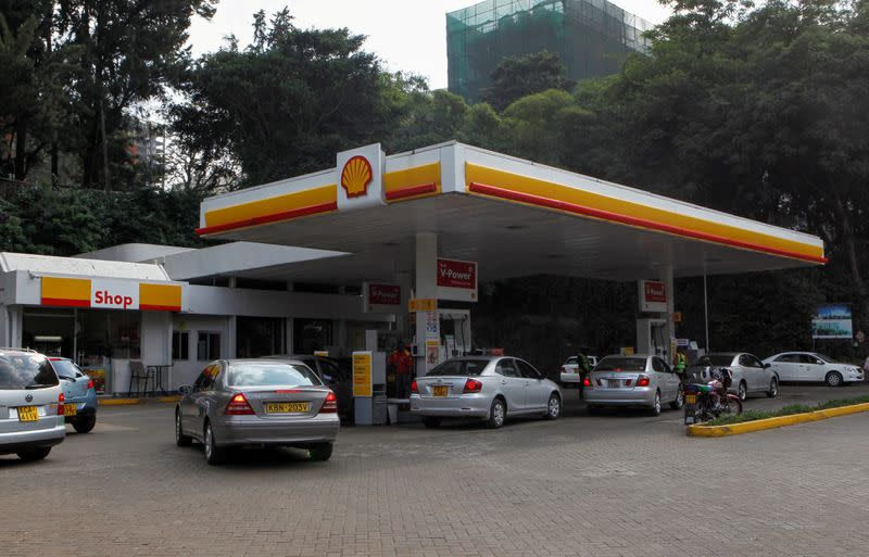FILE PHOTO: A general view of the Shell fuel station along Valley Road in Nairobi