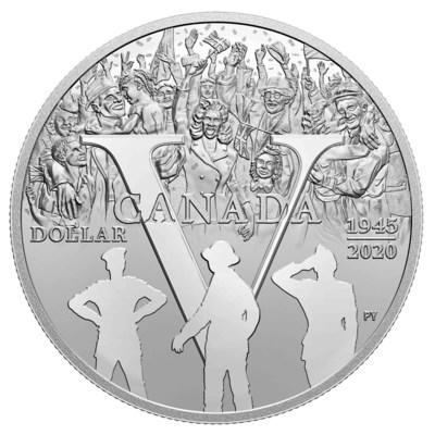 The Royal Canadian Mint's Proof Silver Dollar celebrating the 75th anniversary of V-E Day (CNW Group/Royal Canadian Mint)