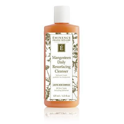 <p>You'll love the pore-minimizing effects of the <span>Eminence Mangosteen Daily Resurfacing Cleanser</span> ($42). It removes dead skin cells and creates a more even texture over time.</p>
