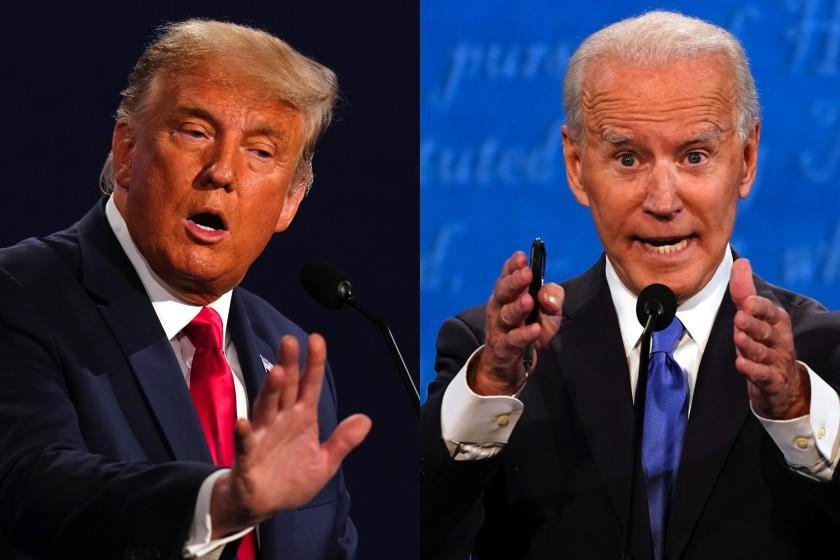 President Trump and Democratic challenger Joe Biden during Thursday's debate.