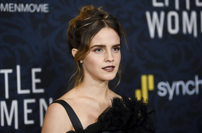 "Actress Emma Watson attends the premiere of ""Little Women"" at the Museum of Modern Art on Saturday, Dec. 7, 2019, in New York. (Photo by Evan Agostini/Invision/AP)"