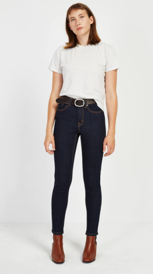 The Debbie High-Waisted Skinny Jean in Navy