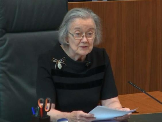 Supreme court president Lady Hale delivers the bombshell ruling (Supreme Court/PA)