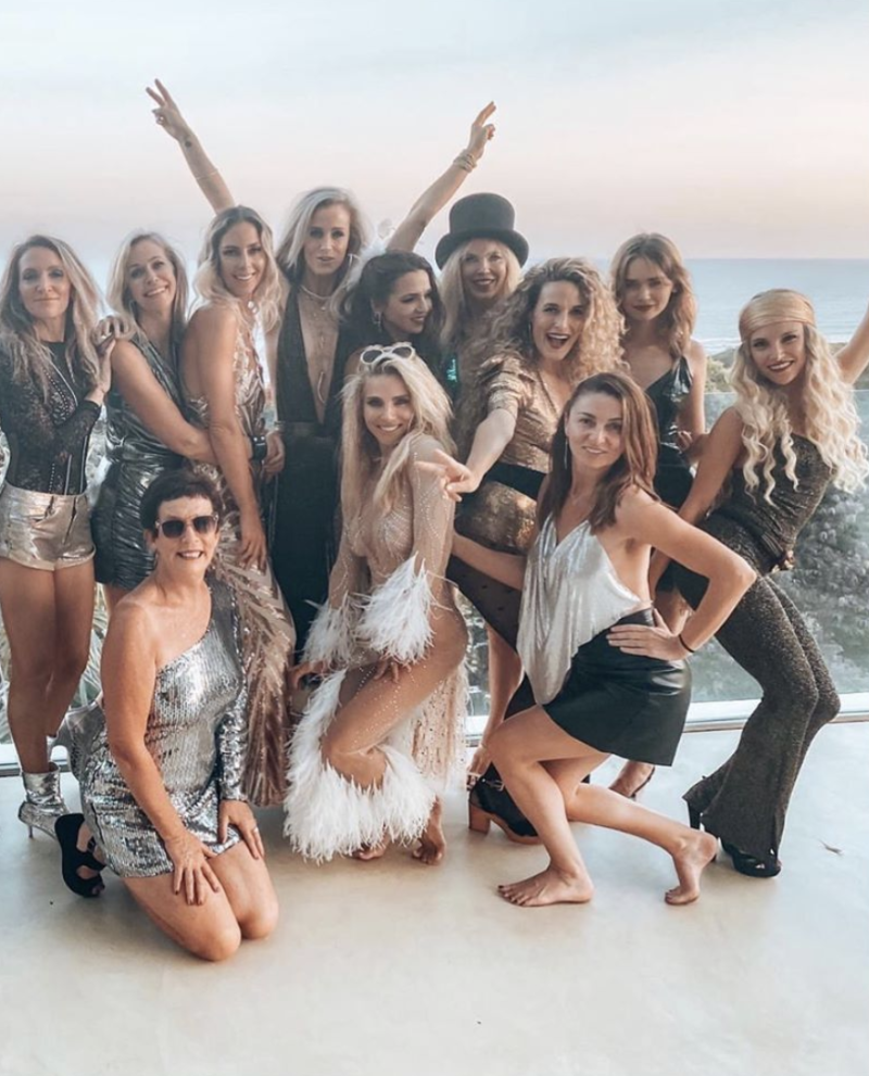 The Tidelands star welcomed 2020 with her girlfriends. Photo: Instagram/elsapatakyconfidential.