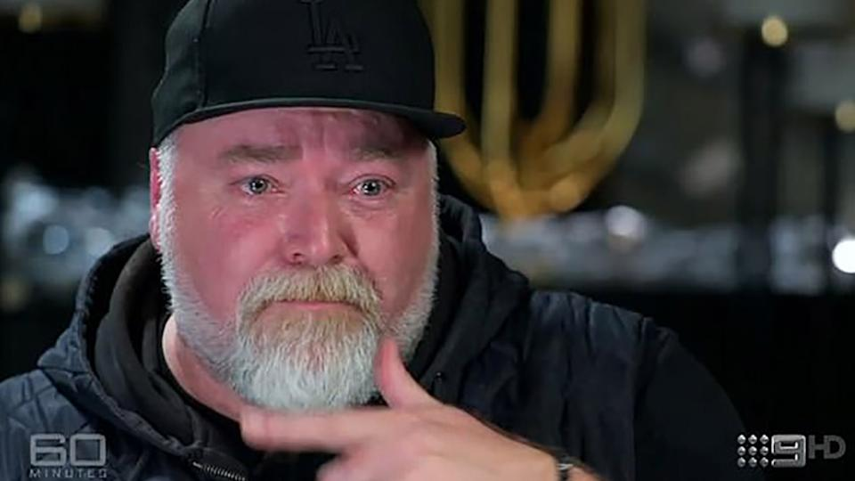 Kyle Sandilands crying on 60 Minutes