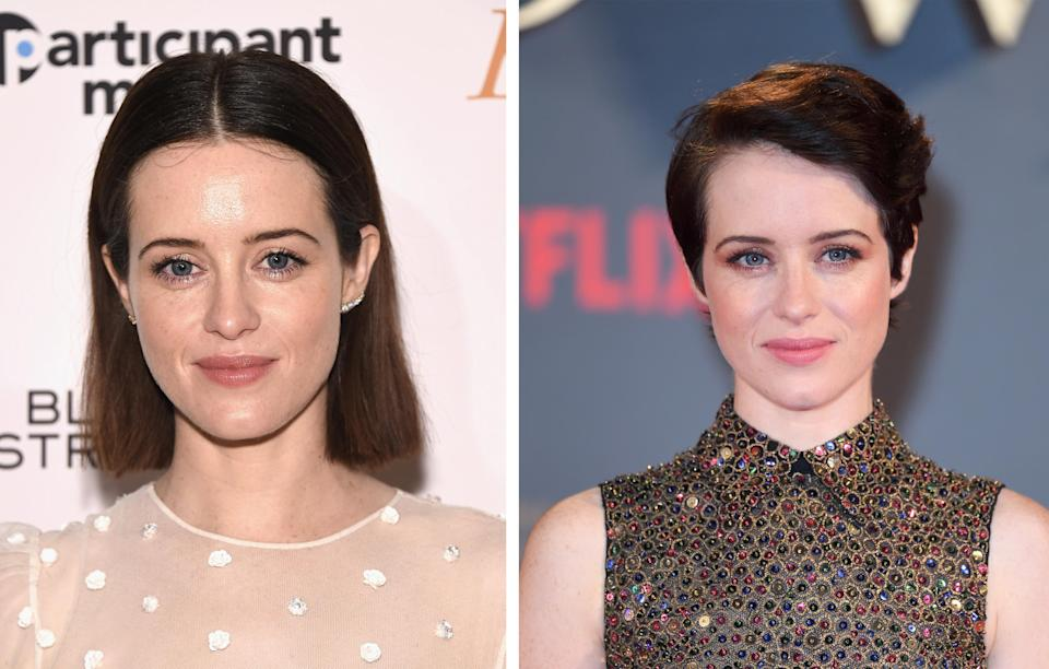 <p><strong>When:</strong> November 23<br>The star of 'The Crown' showed off a brand new pixie cut at the premiere of the new season.<br><i>[Photo: Getty]</i> </p>