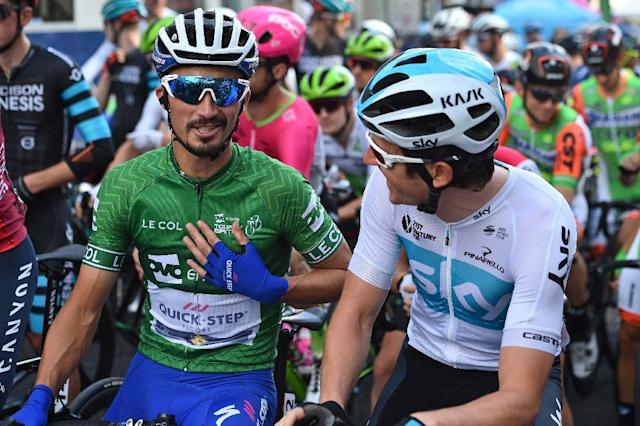 France's Julian Alaphilippe is the man to beat at Sunday's world road race world title race (AFP Photo/Glyn KIRK)