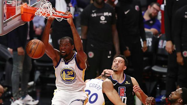 The Golden State Warriors and Portland Trail Blazers hold 3-1 leads over the Los Angeles Clippers and Oklahoma City Thunder respectively.