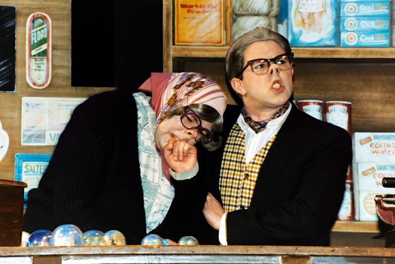 TV comedy show 'The League of Gentlemen' stars Steve Pemberton (L) and Reece Shearsmith during their debut live West End stage performance of 'A Local Show for Local People' at the Theatre Royal, Drury Lane, London. (Photo by Yui Mok - PA Images/PA Images via Getty Images)