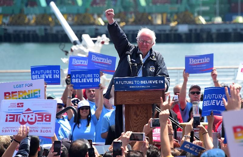 Senator Bernie Sanders is promising to take on powerful special interests as he launches a second presidential run (AFP Photo/FREDERIC J. BROWN)