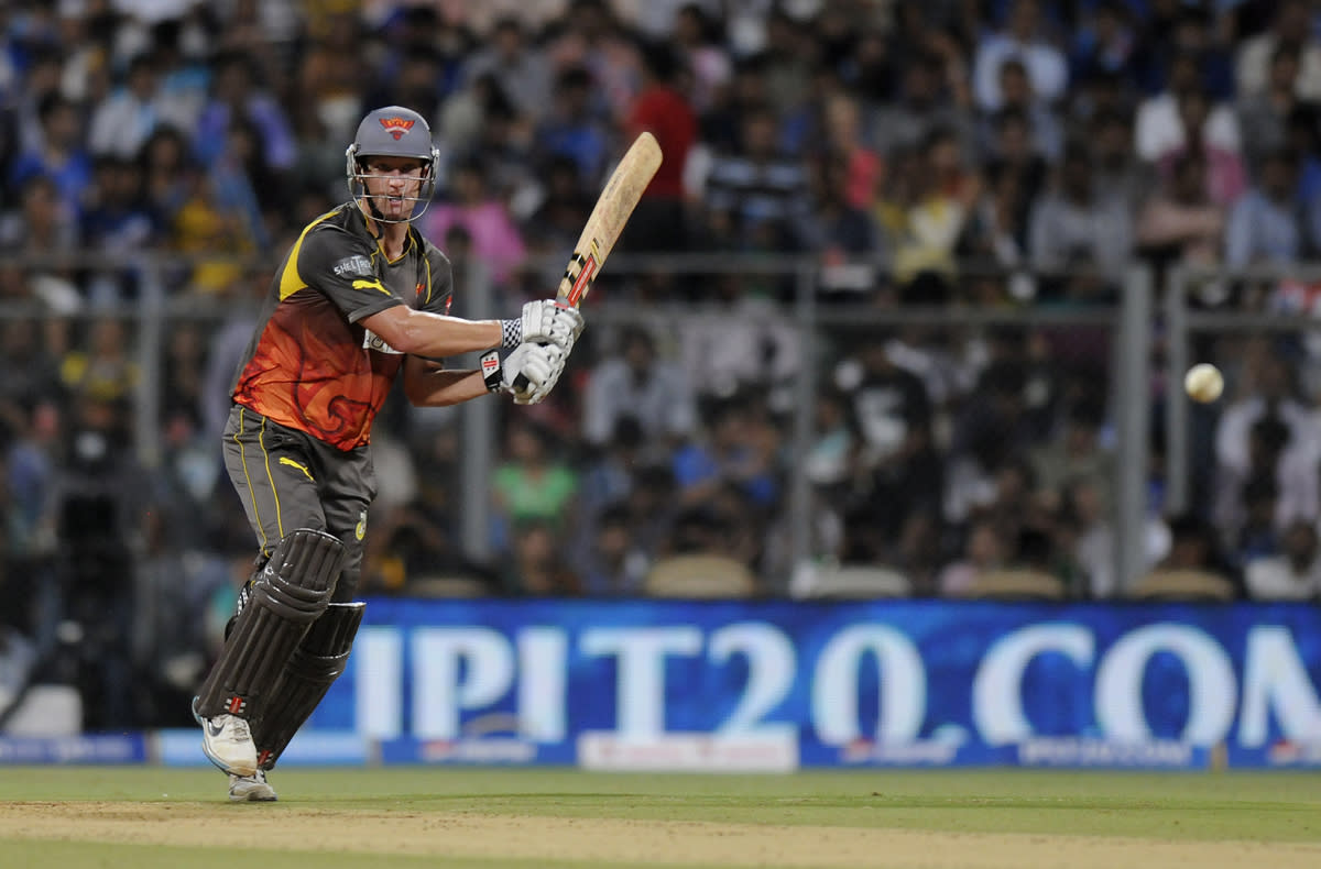 Cameron White captain of Sunrisers Hyderabad bats during match 62 of the Pepsi Indian Premier League ( IPL) 2013  between The Mumbai Indians and the Sunrisers Hyderabad held at the Wankhede Stadium in Mumbai on the 13th May 2013 ..Photo by Pal Pillai-IPL-SPORTZPICS ..Use of this image is subject to the terms and conditions as outlined by the BCCI. These terms can be found by following this link:..https://ec.yimg.com/ec?url=http%3a%2f%2fwww.sportzpics.co.za%2fimage%2fI0000SoRagM2cIEc&t=1493591292&sig=EROx12RlIHnBn6HrBl4gIw--~C
