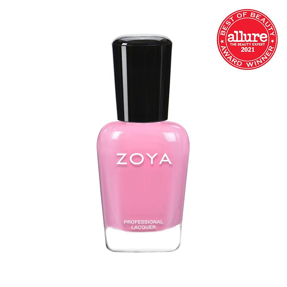 A bright pop of bubblegum pink, <strong>Zoya Professional Lacquer in Tweedy</strong> practically asks to be snapped.