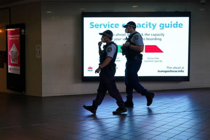 FILE PHOTO: COVID-19 lockdown remains in place as outbreak of new cases affects Sydney