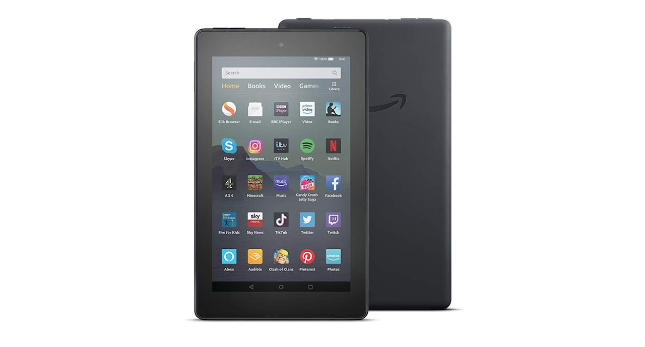 """<a href=""""https://www.amazon.co.uk/Fire-7-Tablet---Black---16-GB/dp/B07JQRM9W4?tag=yahooukedit-21""""><strong>Buy now.</strong></a>"""