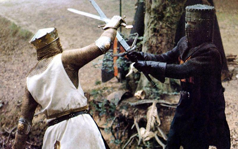 A scene from Monty Python and the Holy Grail - Rex Features