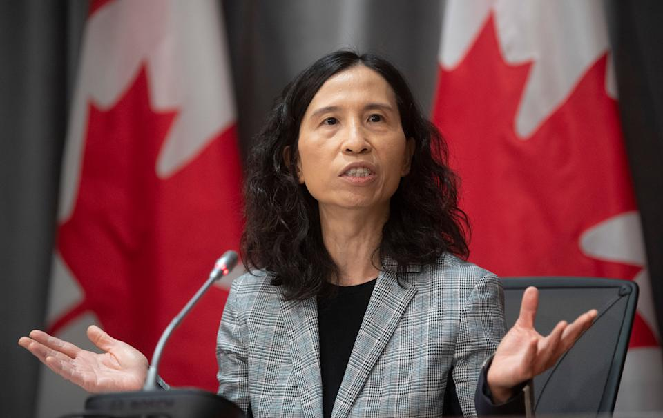 Chief Public Health Officer Theresa Tam responds to a question during a news conference on the COVID-19 virus in Ottawa, March 23, 2020.  (Photo: Adrian Wyld/THE CANADIAN PRESS)