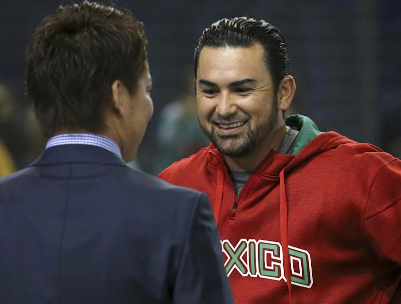 Adrian Gonzalez and the Dodgers will play a regular-season series in Mexico this season. (AP)