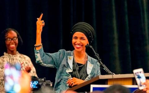 Somali-American, Ilhan Omar, has been newly elected to the U.S. House of Representatives on the Democratic ticket - Credit: KEREM YUCEL/AFP