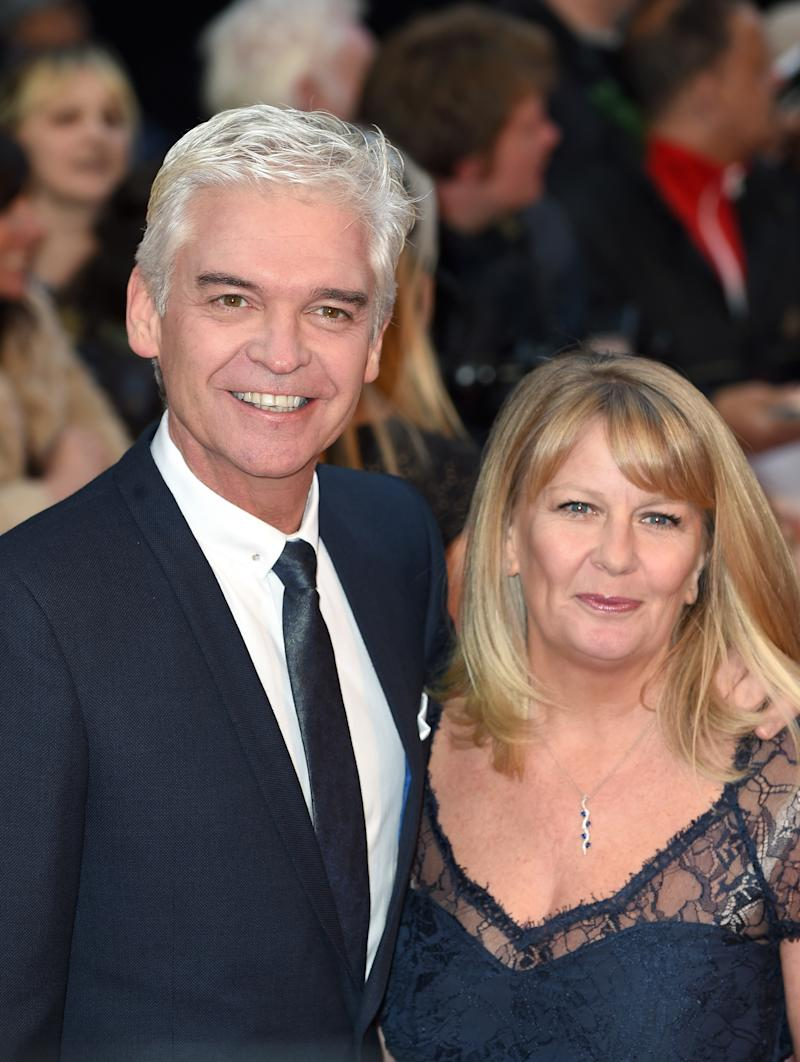 Phillip Schofield pictured with his wife-of-27-years Stephanie Lowe. Source: Getty Images