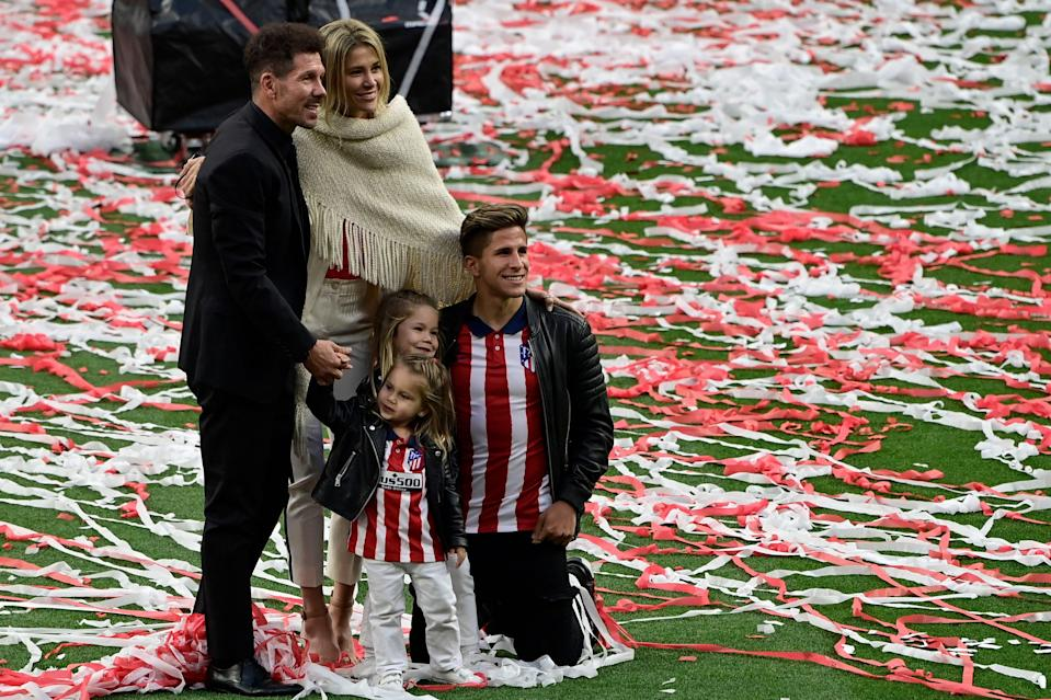 Simeone celebrating with his familyAFP via Getty Images