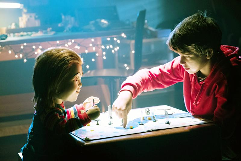 The new Chucky (voiced by Mark Hamill) and Andy (Gabriel Bateman) have a game night in the new 'Child's Play' (Photo: Eric Milner / © Orion Pictures / courtesy Everett Collection)