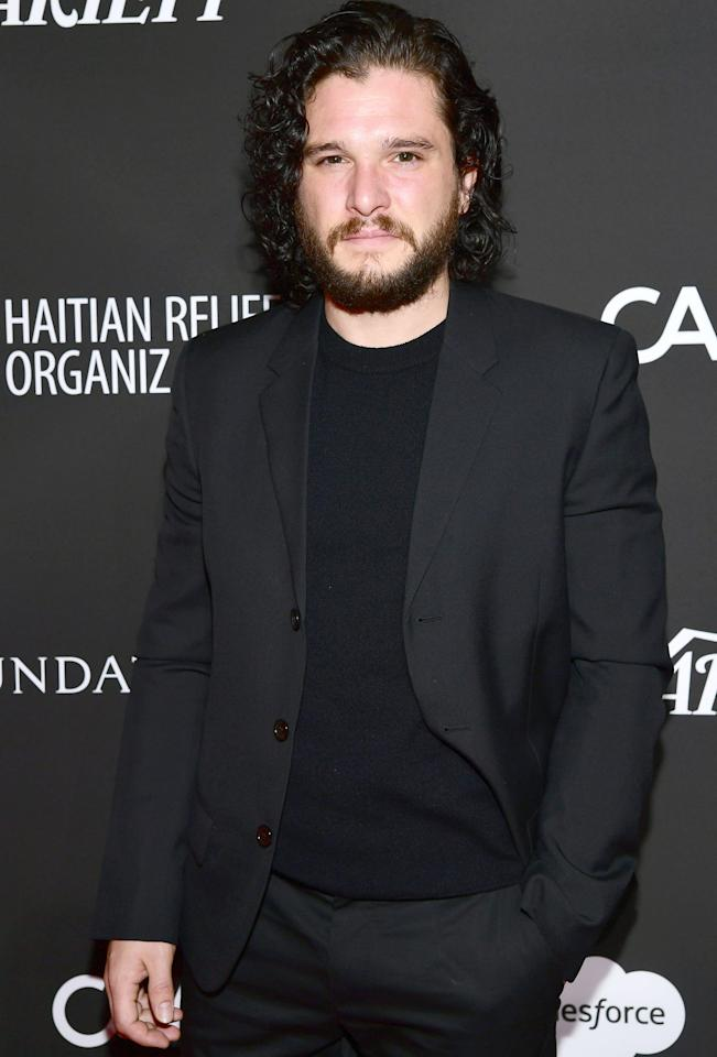 "<p>The actor — who plays Jon Snow in the SAG-nominated series — showed up to his first audition with a black eye. ""I went into the McDonald's with this girl I was sort of dating at the time,"" Harington told <em>W Magazine</em>.  Because the place was busy, Harington and his girlfriend were forced to share a table with another couple, when the man next to them ""started being really rude to the girl I was with, calling her names… Then he called her something like 'ugly pig' or something worse."" In an attempt to defend her honor, Harington ""called him up for a fight, which I'd never done before.""  The actor got ""battered"" by this stranger, but turning up to his audition with a black eye proved that he could take a hit. ""So I think that man who punched me in the face may have helped me get the job, so if you're watching, thank you,"" Harington added.</p>"