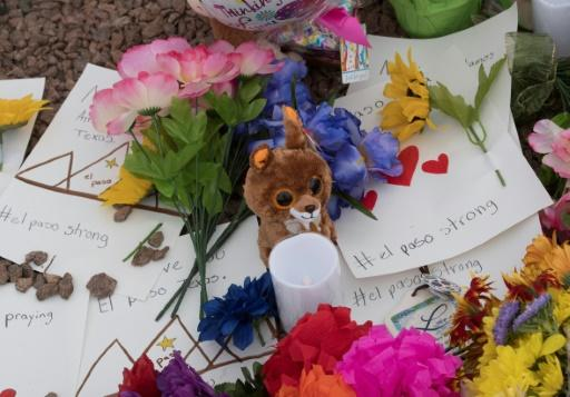 Messages and flowers at a makeshift memorial honor the El Paso shooting victims, who include grandparents shopping with their grandchildren, a mother protecting her newborn, and at least seven Mexican nationals
