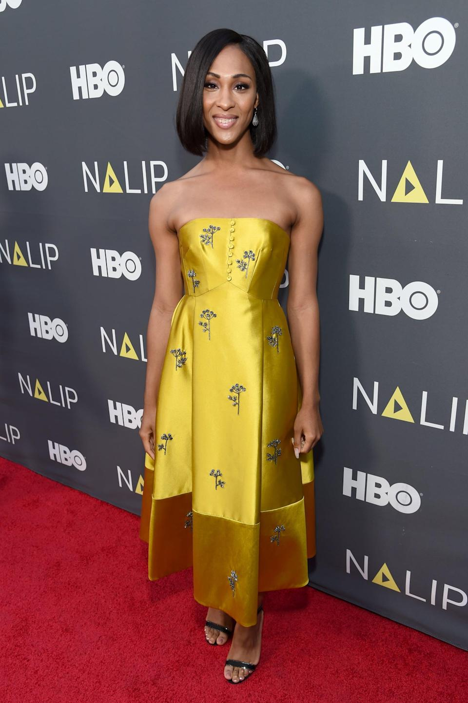 <p>Again, Mj glowed in yellow at the Latino Media Awards in July 2019, coordinating her dress with Jimmy Choo sandals.</p>