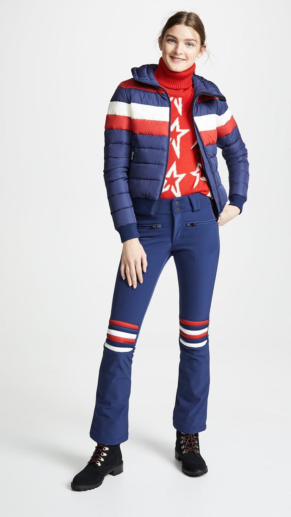 <p>This <span>Perfect Moment Aurora Flare Pants</span> ($450) and <span>Queenie Jacket</span> ($550) is a full look, and we are here for it.</p>