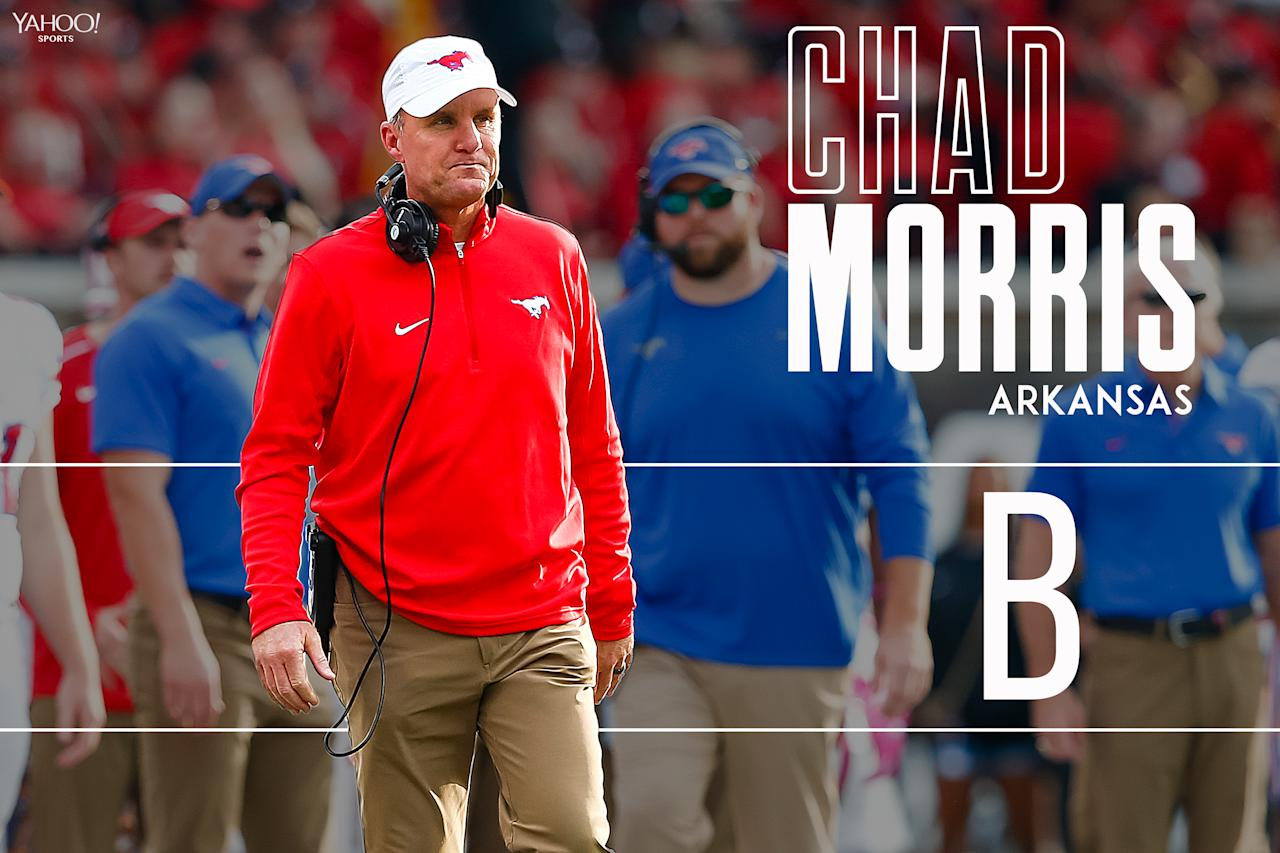 <p>Morris' win-loss record at SMU is misleading. He inherited a mess of a program and took them to a bowl game in 2017. And remember, he recruited Deshaun Watson to Clemson. </p>