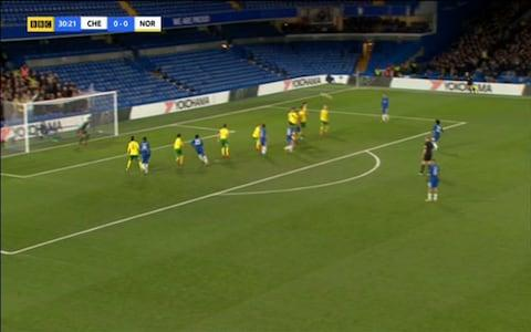 Willian's freekick - Credit: BBC1