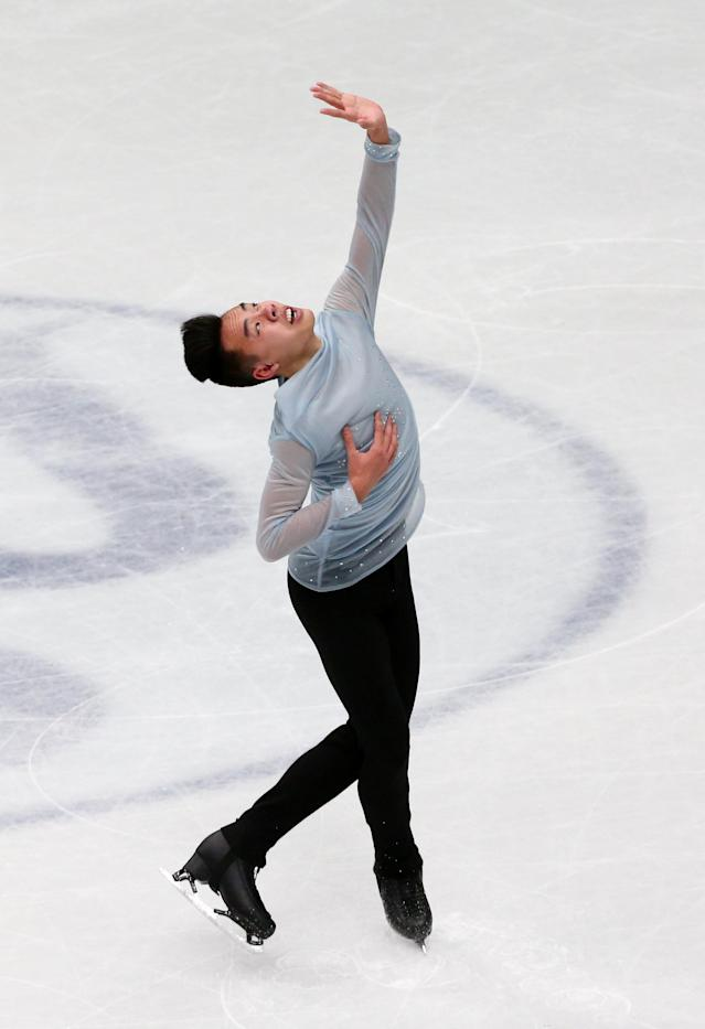 Figure Skating - World Figure Skating Championships - The Mediolanum Forum, Milan, Italy - March 22, 2018 Canada's Nam Nguyen during the Men's Short Programme REUTERS/Alessandro Bianchi