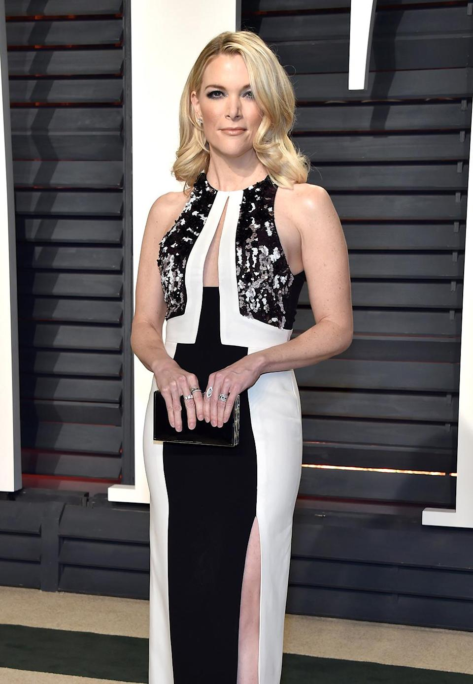 <p>TV personality Megyn Kelly attends the 2017 Vanity Fair Oscar Party hosted by Graydon Carter at Wallis Annenberg Center for the Performing Arts on February 26, 2017 in Beverly Hills, California. (Photo by Pascal Le Segretain/Getty Images) </p>