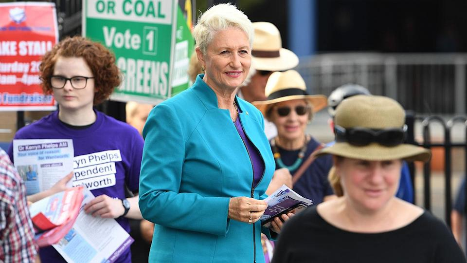 Independent candidate Kerryn Phelps has won the Wentworth by-election. Source: AAP