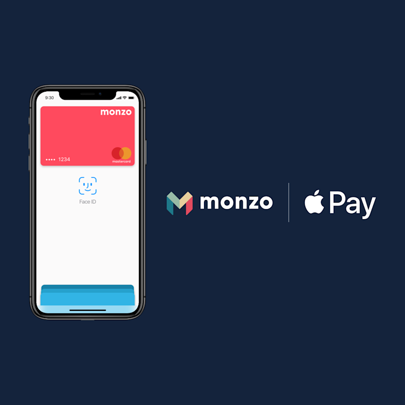 Monzo, the U.K. challenger bank, finally rolls out Apple Pay