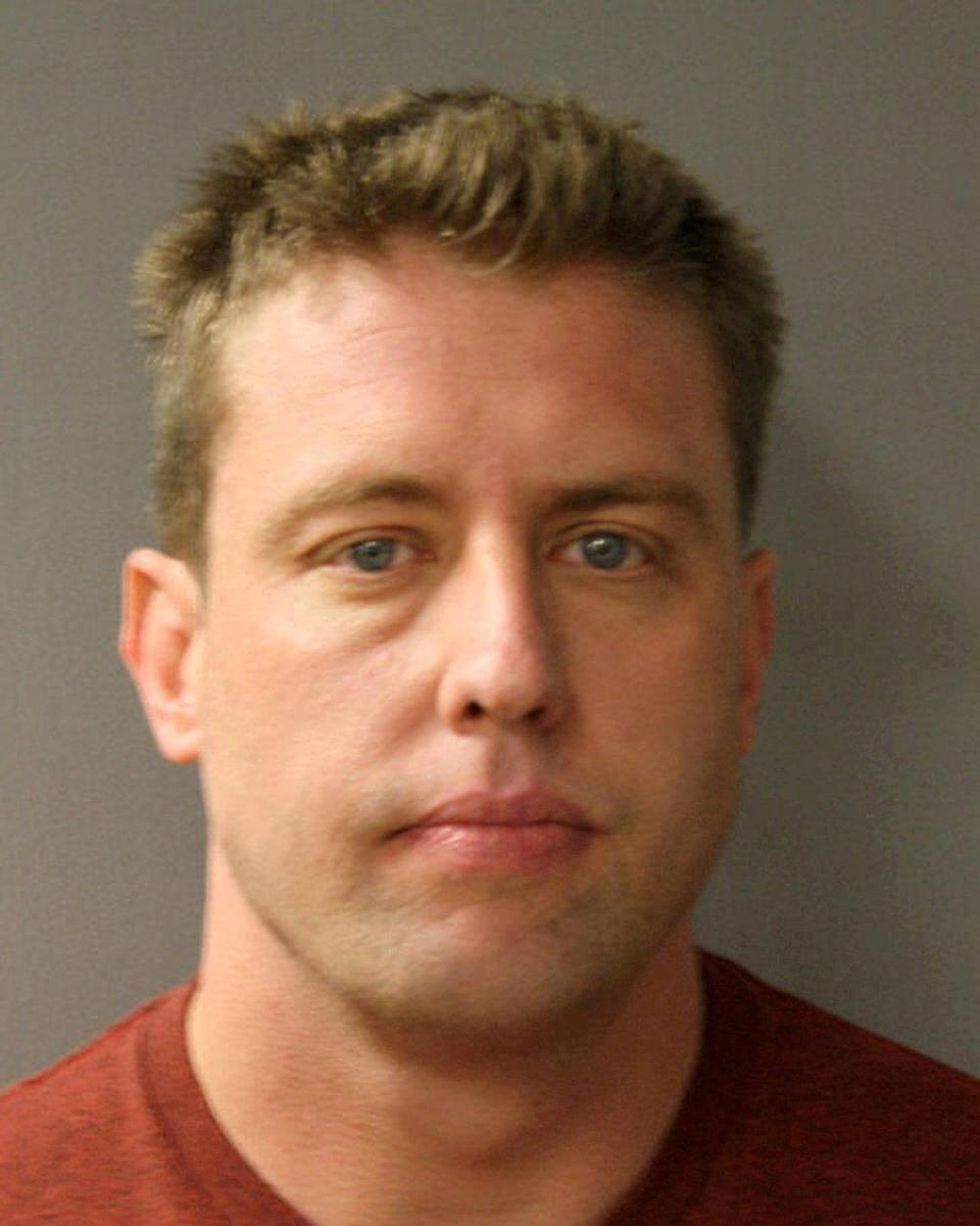FILE PHOTO: Jason Stockley, an ex-St.Louis police officer pictured in this police handout photo obtained by Reuters August 10, 2017. Harris County Sheriff's Office/Handout via REUTERS/File Photo