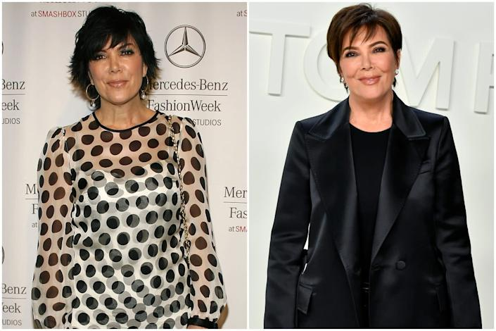 2007 vs today: Kris Jenner has upped the style stakes (Getty Images )