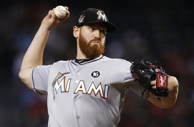 Marlins right-hander Dan Straily is embracing the team's rebuild and saying good riddance to stars like Giancarlo Stanton and Christian Yelich. (AP)