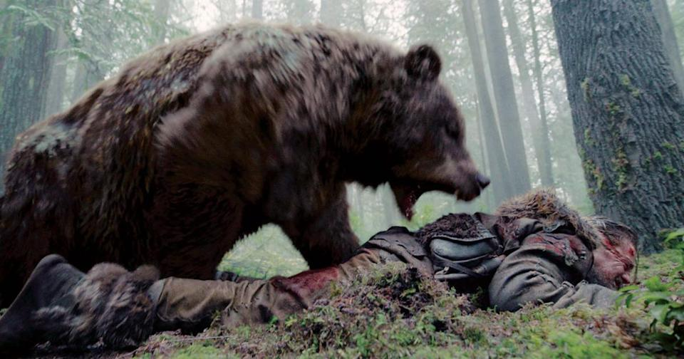 <p>We can't help but wonder if Leonardo DiCaprio's encounter with a grizzly bear might have gone a bit more smoothly if he'd only thought to bring marmalade sandwiches. (Credit: 20th Century Fox) </p>