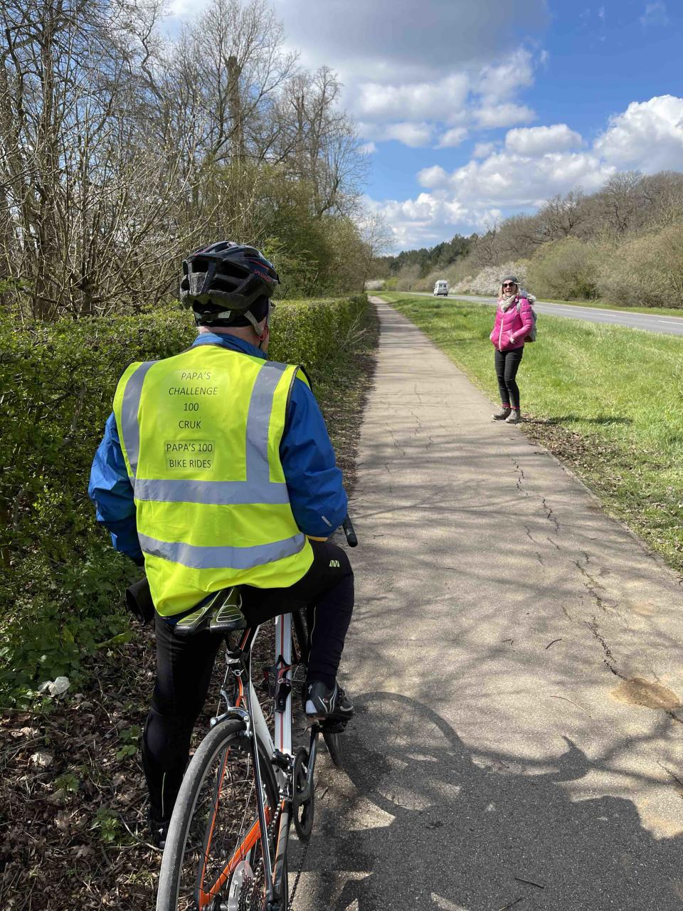 Frank McEwan has cycled around Rutland Water for years