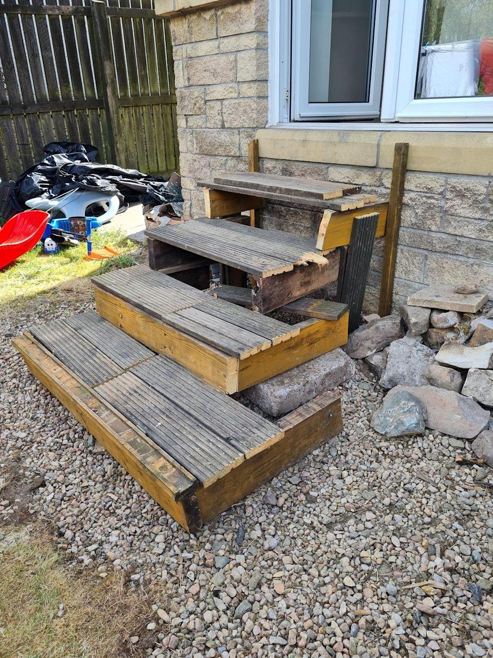 <p>Despite wanting to design pretty stairs leading from the patio, Karen Sands' homemade steps were anything but safe. She might have saved money doing them on her own, but some jobs are better left to the experts! <br></p>