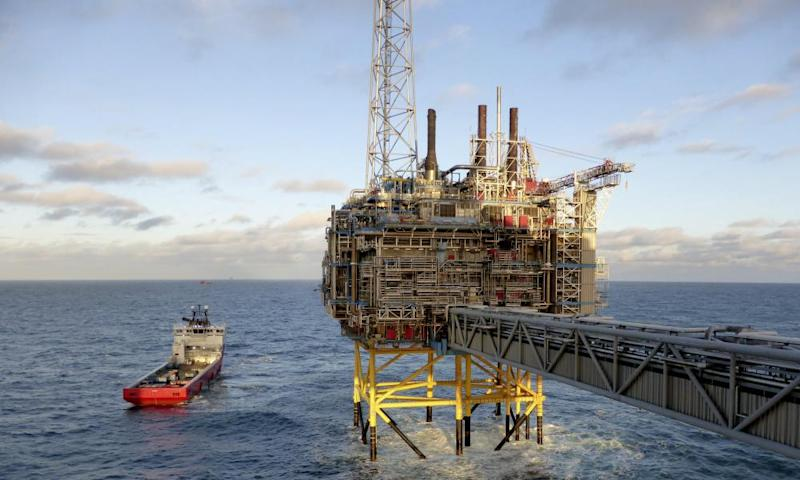 A platform belonging to Norway's state-owned oil company, Statoil, off Stavanger.