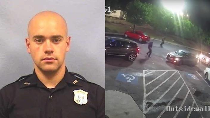 The Atlanta police officer Garrett Rolfe shot Rayshard Brooks on Friday as the 27-year-old Brooks ran away in a Wendy's parking lot.