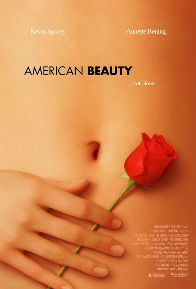 "The stomach and the hands that grace the posters for ""American Beauty"" did not belong to actress Mena Suvari."