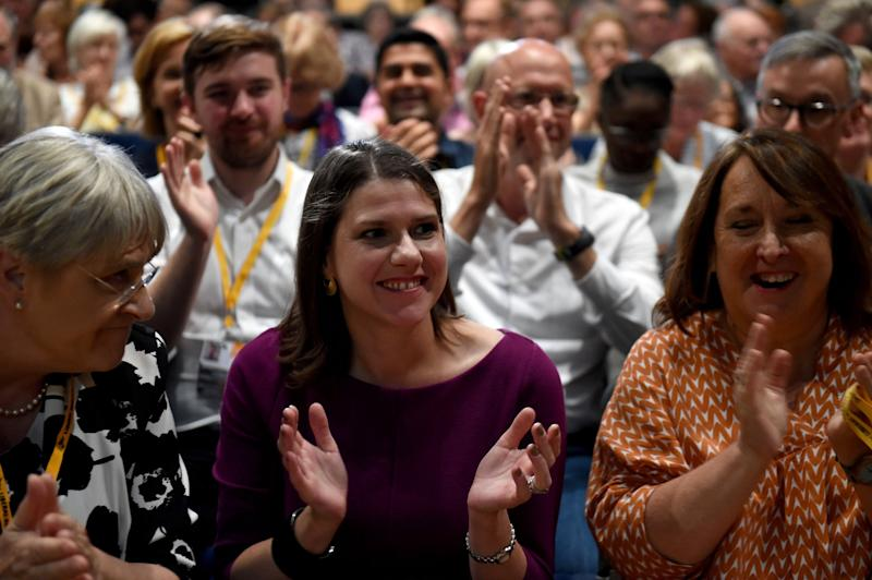 Liberal Democrat leader Jo Swinson reacts following Sunday's vote to rescind Article 50: Finnbarr Webster/Getty Images
