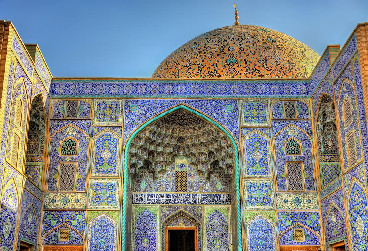 Completed in 1619, Isfahan's Sheikh Lotfollah Mosque is one of the most beautiful structures in Iran, if not the entire Middle East. The structure was designed by the Persian architect Sheikh Baha'i (1547 - 1621), a man who was also well-versed as a philosopher, mathematician, and astronomer.