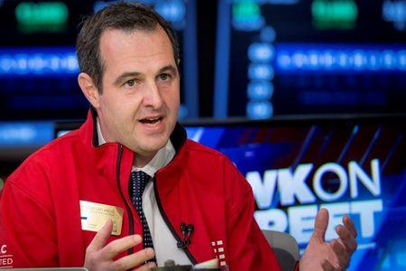Laplanche, Founder and CEO of Lending Club, speaks during an interview with CNBC on the floor of the New York Stock Exchange
