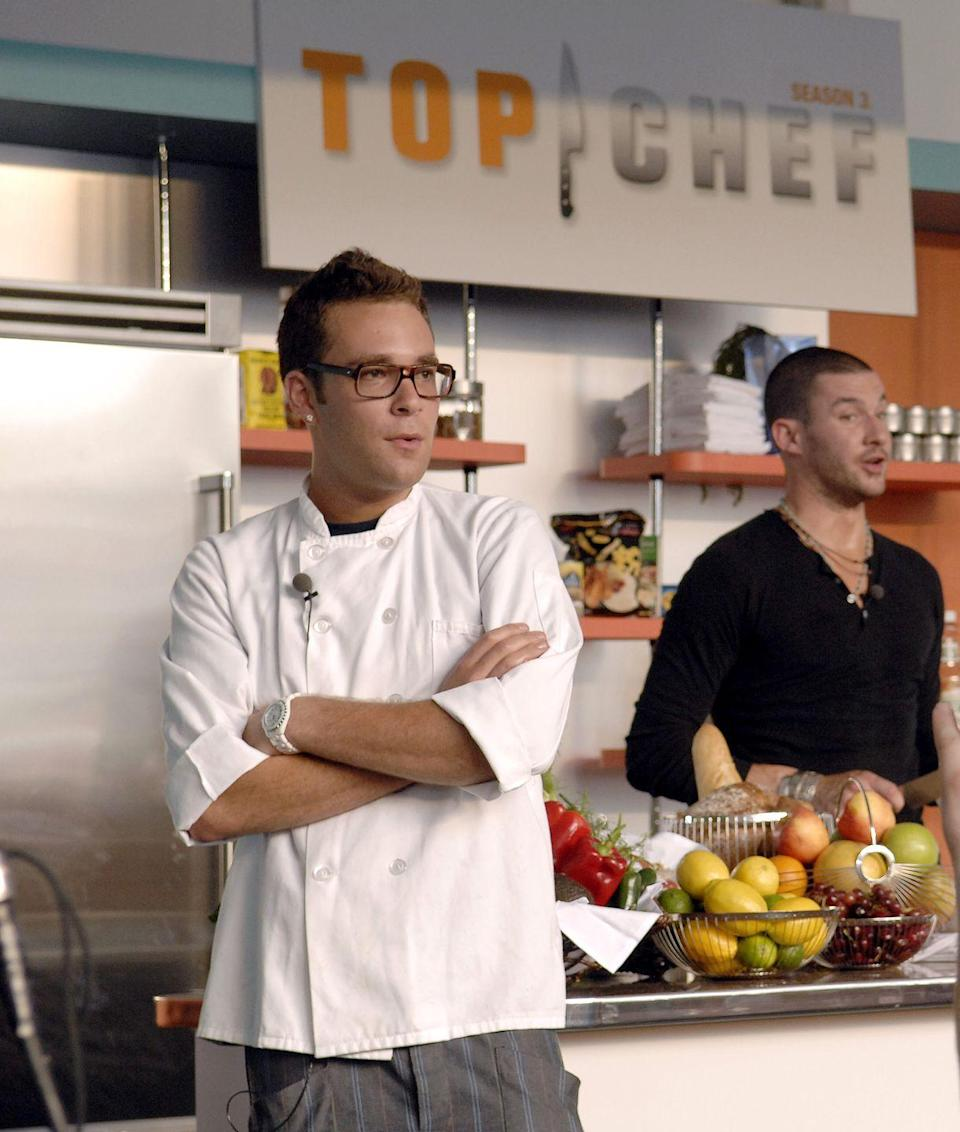 """<p>According to frequent judge Eric Ripert, the worst dish he ever had was season two's Ilan Hall's <a href=""""https://ew.com/article/2010/01/12/top-chef-secrets-revealed-from-the-judges-mouths-to-your-ears/"""" rel=""""nofollow noopener"""" target=""""_blank"""" data-ylk=""""slk:chocolate ganache with chicken liver."""" class=""""link rapid-noclick-resp"""">chocolate ganache with chicken liver. </a></p>"""